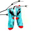 Mapgie Talk socks by Mount Vic and Me. True Australiana.