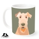 Airedale dog breed mug by Mount Vic and Me